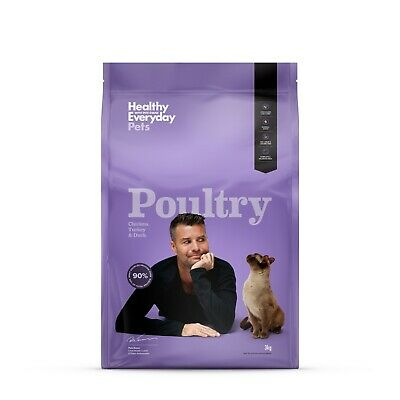 Healthy Everyday Pets by Pete Evans Grain Free Dry Cat Food - Poultry 3kg
