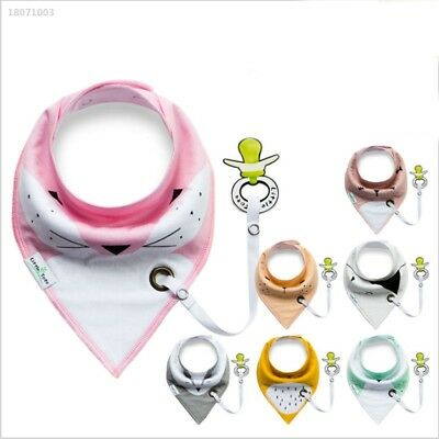 Random Color Baby Bibs Kids Chain Clip Holders Pacifier Soother Nipple 0451