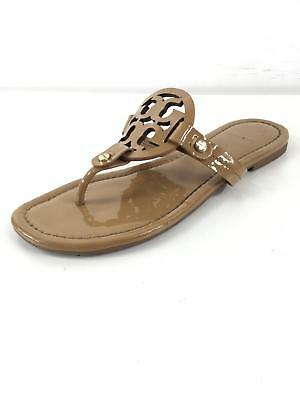 27722b9c5 X17 Tory Burch Miller Sand Patent Leather Thong Sandals Women Size 6 M