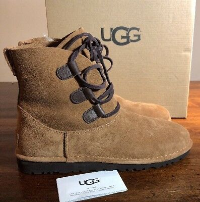 8372fcda9f2 UGG ELVI WOMAN'S Boot Chestnut Size 7 Very Nice New* Authentic With ...