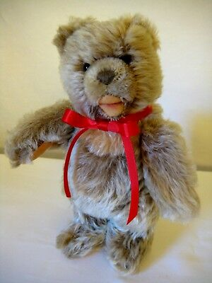 Steiff Vintage Jointed Mohair Zotty Bear -  22cm  - Old Style Nickel Ear Button