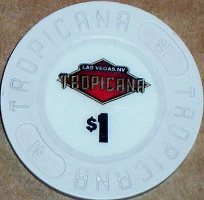 Old $1 TROPICANA Casino Poker Chip Vintage Antique House Mold Las Vegas NV 1992