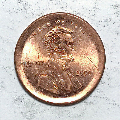 2000 Large Broadstruck Lincoln Cent