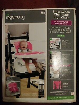 INGENUITY SMART CLEAN CHAIR MATE HIGH CHAIR. PINK. New in box