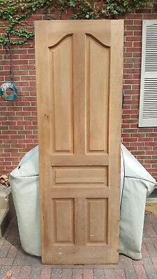 Antique Double Doors Pair Raised Panel 89 X 30 Each Solid With Hinges
