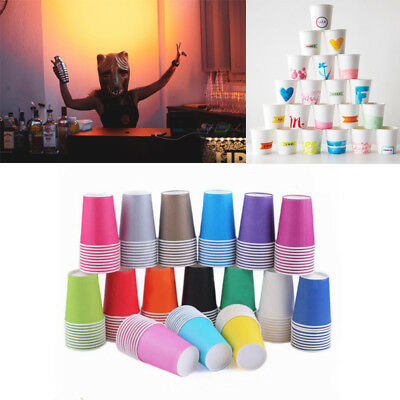 1-168 x Paper Cups Plain Solid Colours Birthday Party Catering Tableware Job Lot
