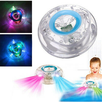 Baby Bath LED Water Floating Aqua Glow Lamp in Show Pond Hot Pool Spa Tub Light