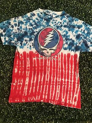 VTG Grateful Dead Steal Your Face T Shirt RARE Vintage Tye Dye Size L 1988