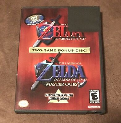 The Legend Of Zelda Ocarina Of Time & Master Quest Nintendo GameCube Works Great