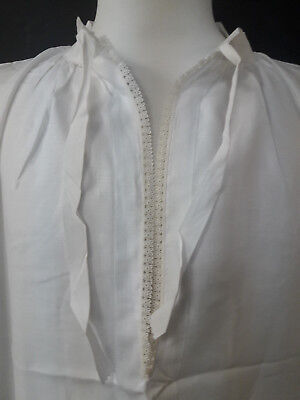 Vintage Alb Irish Linen Lace Neck & Collar 70's Large Brand New Old Stock Rare!