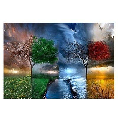 5D Tree of Four Seasons Canvas Prints Wall Art Decor Painting Panels Home Office