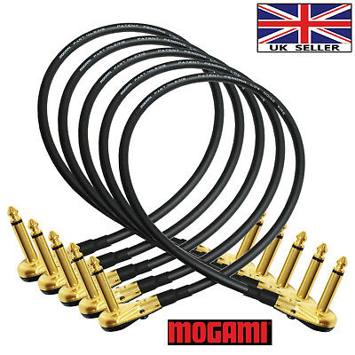 5x45cm Mogami 2319-Guitar Bass Effects Instrument Pedal Stomp Patch Cable (Gold)