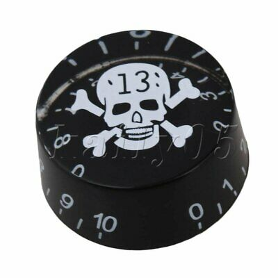 4pcs Black Electric Guitar Knobs Speed Control Knobs with W/SKULL Design