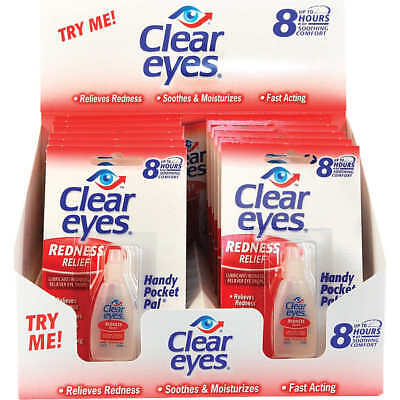 Clear Eyes Redness Relief Handy Pocket Pal, 0.2 oz, 12 ct