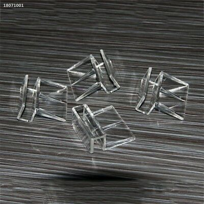 Aquarium Tank Glass Cover Transparent Acrylic Clips Clamp Support Holder 316B