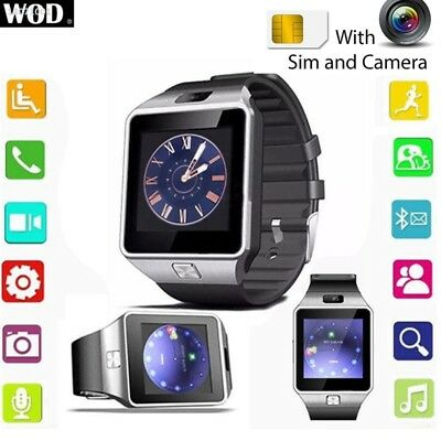 DZ09 Bluetooth Smart Watch Phone Mate GSM SIM Card For Iphone Android & IOS 3819
