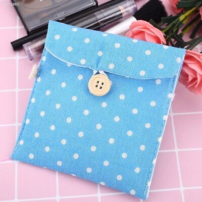 Lady Linen Sanitary Napkin Towel Pad Small Mini Bags Case Pouch Holder 0933