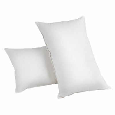 2 Set Duck Down Pillow Feather Bedroom Bedding Bed Decor Cushion 100% Cotton NEW