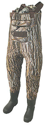 Mens Camouflage Waterproof Fishing Waders W/ Rubber Boots