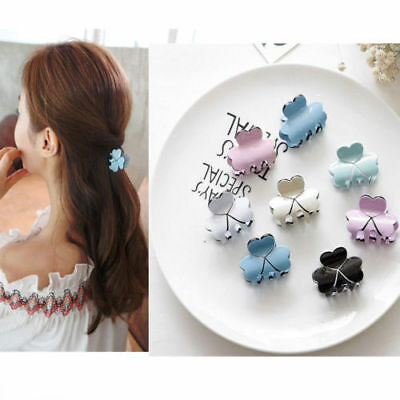 Small Women Head Hair Clips Claw Candy -color Headdress Hairpin Hair Accessories