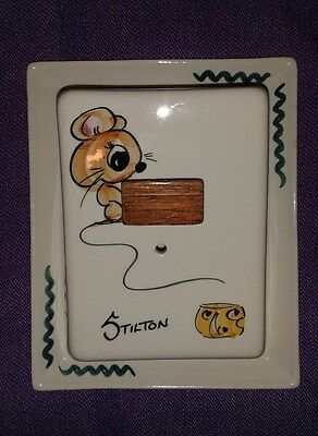 (Tony Raymond) Vintage cheese dish WITH MOUSE DESIGN/DECORATION
