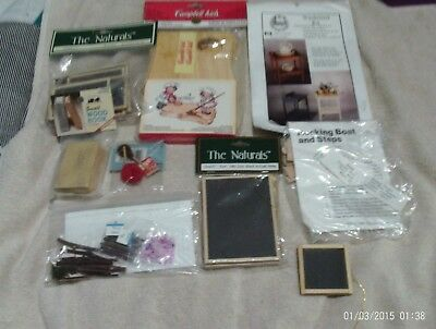 Dollhouse Miniatures~~Furniture Kits~Black Boards+Others