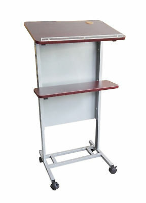 Church Pulpit Podium School Lectern Adjustable Height Lectern Podium Casters