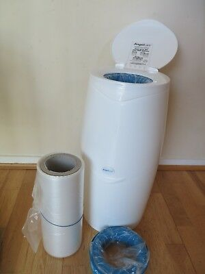 Angelcare Baby Nappy Diaper Disposal System Bin with refill