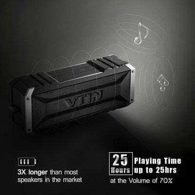 VTIN 20W Portable Bluetooth Speaker Stereo BASS Wireless Waterproof Loudspeaker