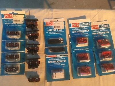 9 Peco point motors, 2 Adaptor Base, 7 Twin Microswitches.