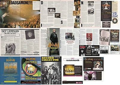 DEF LEPPARD : CUTTINGS COLLECTION -interviews adverts-