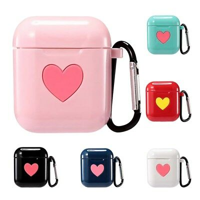 Cute Case For AirPods Shockproof Silicone Cover Earphone LOVE Pattern Soft Case