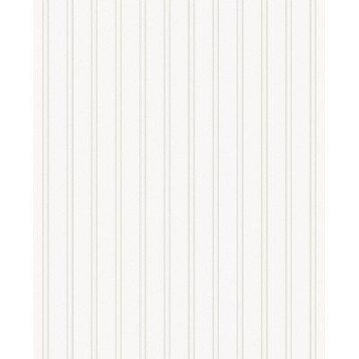 Graham  Brown Paintable Prepasted Beadboard Stripes Texture Wallpaper, White