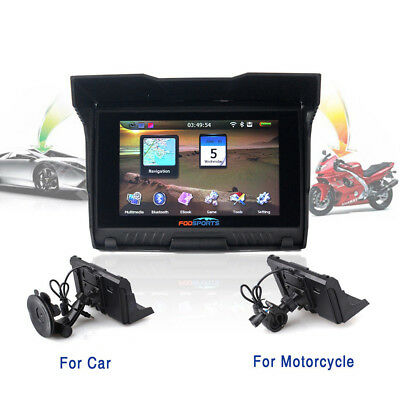 "5.0"" Bluetooth Moto GPS Navegación Motocicleta Car Bike SAT NAV 8GB Update Map"