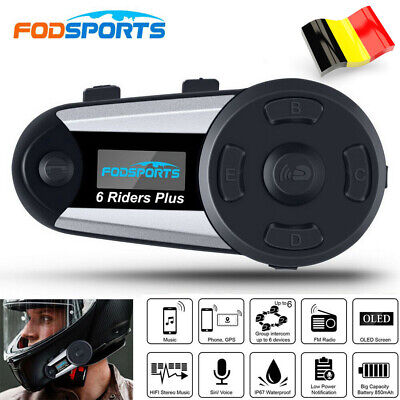 V8 5 Riders Bluetooth Intercomunicador Moto Casco Interfono Control Remoto NFC