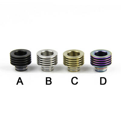 Stainless 510 To 510 Drip Tip Heat Sink Adapter For RDA RTA 510 Black Silver