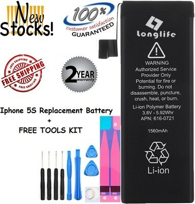 Battery For iPhone  5S & 5C-1560 mAh Replacement Battery+TOOLS (Brand Longlife)