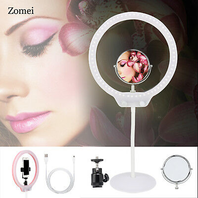 Zomei LED Ringlicht Tabletop Makeup lampe dimmbare beleuchtung mit USB/Spiegel