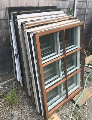 Antique Old Wood Windows LOT SALE vintage six pane glass cottage windows