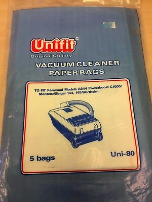 unifit vacuum cleaner paper bags, kenwood models uni-80
