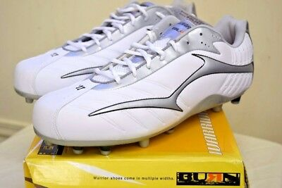 New Mens Lacrosse Cleats Lax  Warrior Speed Low White Size 13 New Balance
