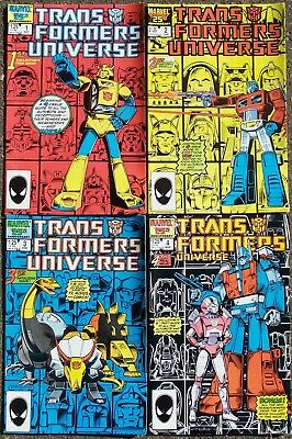 Transformers Universe complete set issue 1 2 3 4 Marvel 1986 1987 mint