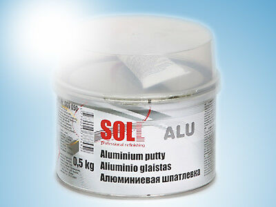 SOLL ALU two component putty with aluminum dust easy to apply 0.5 kg / 17.63 oz