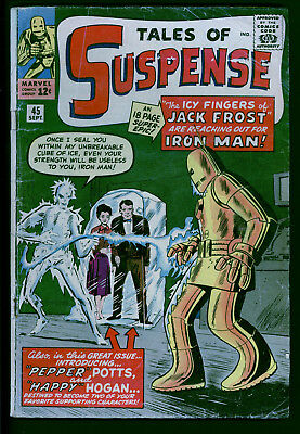 Tales of Suspense 45 raw 2.0 range 1st Jack Frost Pepper Potts Harry Hogan