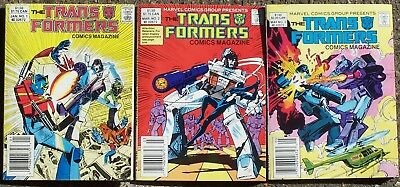 Transformers Comics Magazine digest Issue 1 2 3 Marvel first three issues