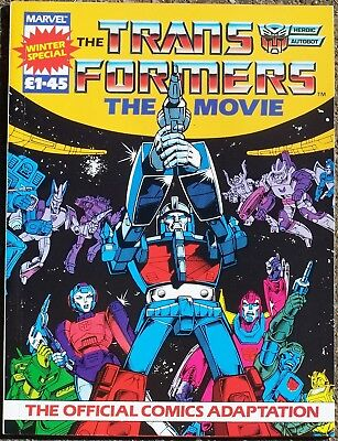 Transformers The Movie Winter Special Official Comics Adaptation Marvel UK 1986