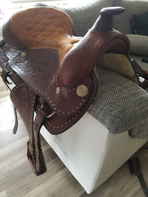Western Saddle Leather Brown 16''