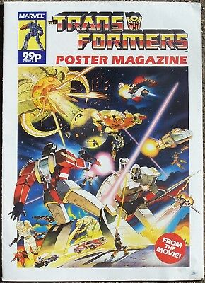 Transformers The Movie Poster Magazine Marvel UK 1986