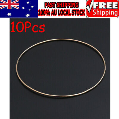 10PCS 16cm Metal Ring Hoops for Dream Catcher Butterfly Mobile Ring DIY Craft AU