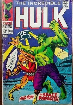 Marvel Comics Incredible Hulk Silver Age 1968 Issue No. 103